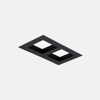 1x2 Open Flanged General Illumination Black