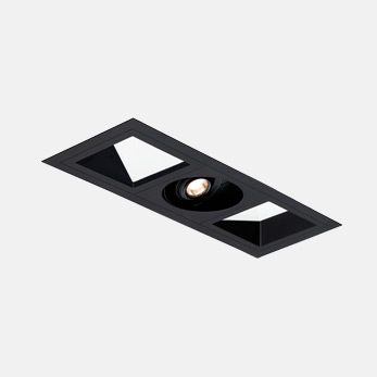 1x3 Open Flanged Wall Wash Spot Module Black