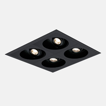 2x2 Open Flanged Black