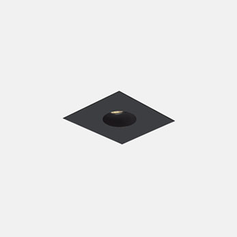 1x1 Trimmed Flanged Round Black