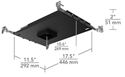 ULTRA-SHALLOW IC/NON-IC AIRTIGHT  sc 1 st  ELEMENT Lighting : shallow recessed lighting led - www.canuckmediamonitor.org