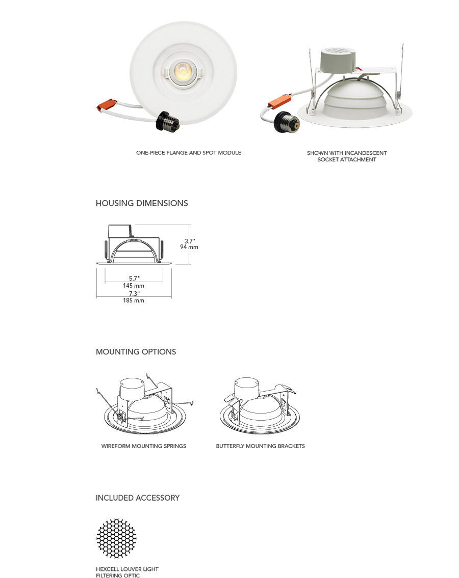6 u0026quot  led adjustable retrofit downlight
